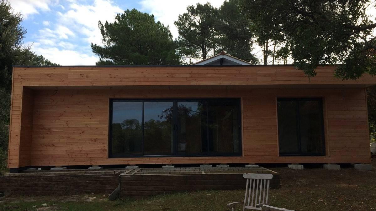 construire une extension en bois de 20 40m2 en gironde. Black Bedroom Furniture Sets. Home Design Ideas