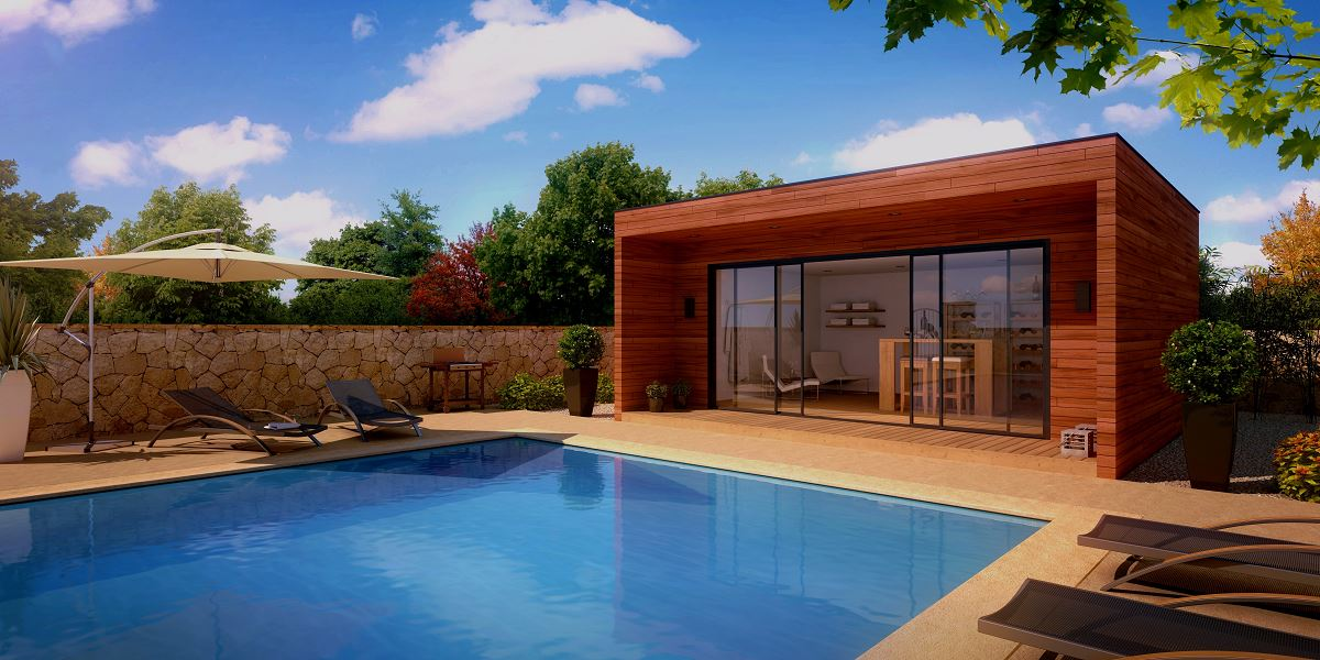 Construction d 39 un pool house en bois bordeaux construction en bois bordeaux abrisips - Photos pool house piscine ...