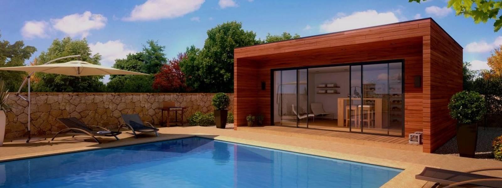 Haut Construction d'un pool house en bois à Bordeaux - Construction en  HJ37